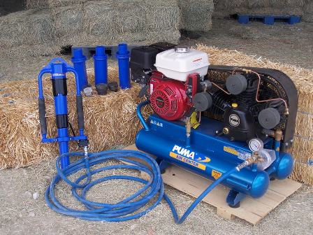 Power Post Driver Combo Picket Post Driver, Air Compressor and Driver Accessory Kit